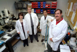 From left to right: Dr. Diana R. Gutsaeva, C. Alvin Head, Tohru Ikuta and James B. Parkerson