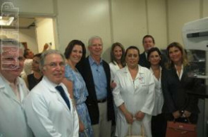 Directors and employees of the St. Paul hospital during delivery of the equipment