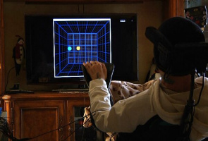 In addition to testing the arm, Mr. Hemmes your thoughts used to guide a ball in the middle of a television screen