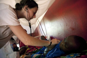 Performs outpatient medical care of African country. Seven Sub-Saharan African nations celebrate reduction in infections of children