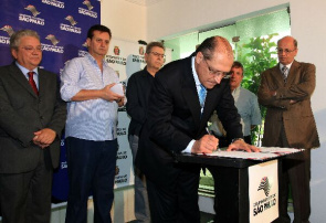 Alckmin, governor of Sao Paulo, signed a decree that gives the land and the building of Sorocaba Hospital for mayor of the capital