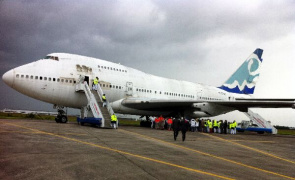 A Boeing 747 came to be used to simulate a chemical accident and trauma during training offered by the French for assistance in disaster situations.