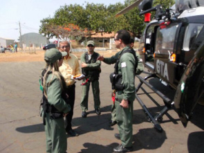Helicopter rescue Tactical Air Group (GTA) South of Maranhão for help in coping meningitis
