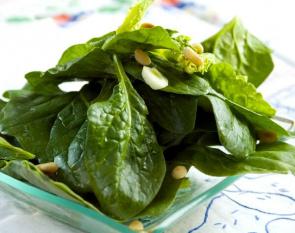 Spinach has a high concentration of vitamin K