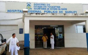 Facade of the Hospital Regional Public Gurupi.