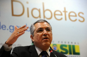 Health Minister Alexandre Padilha, presents Swing Diabetes and actions of the Ministry for disease prevention. Today is celebrated the World Diabetes Day.