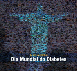 Cartaz do Dia Mundial do Diabetes no Brasil.