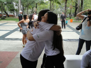 World AIDS Day 2012, in Belo Horizonte, the campaign asked for a hug discrimination