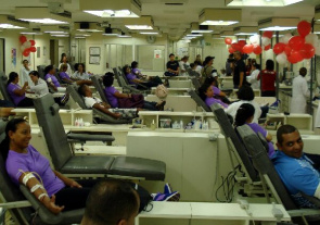 Blood Donation in the Pro-Blood Foundation in Sao Paulo. Blood donations arrive to fall by 30% in the year-end