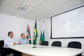 Michele Caputo Neto, State Secretary of Health, during videoconference with more than 300 mayors and health