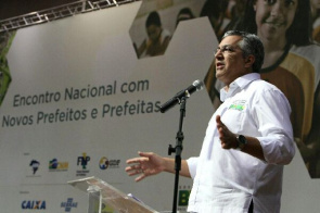 Alexandre Padilha, Minister of Health, during the National Meeting of New Mayors and Mayors