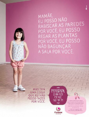 Femama Campaign aims to raise awareness of the importance for women to mammography in the fight against breast cancer