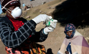 Patient with suspected TB in Lesotho