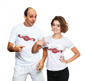 The actress Sophie Charlotte alongside Adriano de Maceio, the two are the face of the National Campaign for Awareness of Pompe disease, 2013