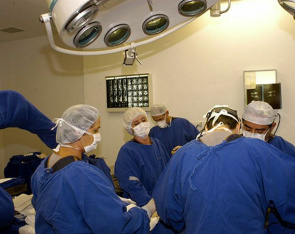 Operating room Hopsital Vita in Curitiba. Hospitals that perform surgery with prosthetic hip and knee will participate in the evaluation and monitoring