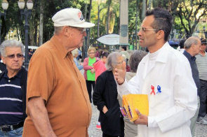 Action in Boca Maldita drew attention to the importance of men's health care