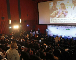 Launch of National Campaign on Breastfeeding 2013 cinema room with view to mothers within the Cinematerna.