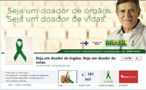On the timeline on Facebook, surfer must click Event Everyday and select the health and well-being, and click organ donor