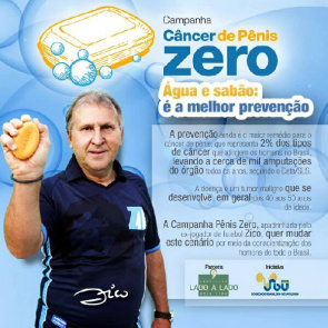 Material Cancer Campaign Dick Zero, with the participation of former footballer Zico