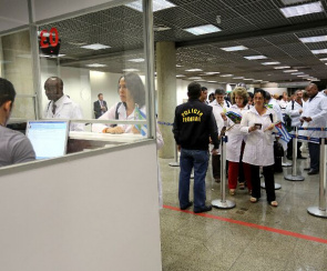 Cuban professionals participating in the More Doctors through a cooperation agreement signed between the Ministry of Health and the Pan American Health