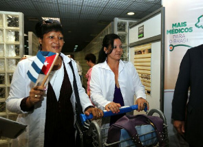 Arrival of Cuban doctors at the International Airport of Brasilia Presidente Juscelino Kubitschek