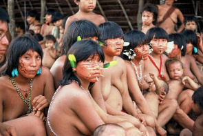 Yanomami Indians living in the Amazon region. Onchocerciasis is the second leading cause of infection that results in blindness.