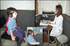 Dr. Mirela Boscariol with patient at the Clinic of Neurology Infanti